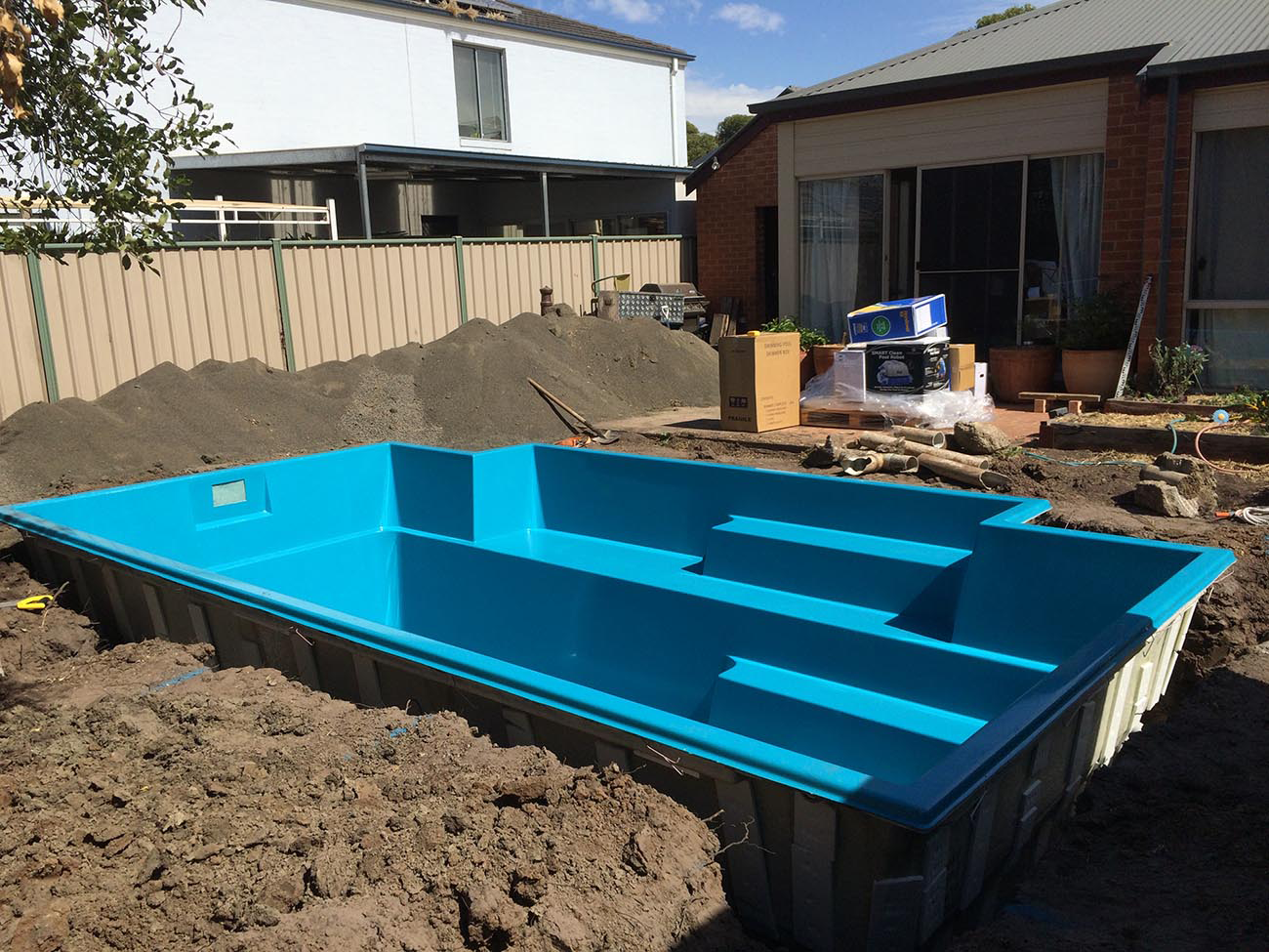 Small living in style landscaping and a lap pool lisa for Pool installation
