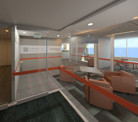 Render of View from Lift Lobby