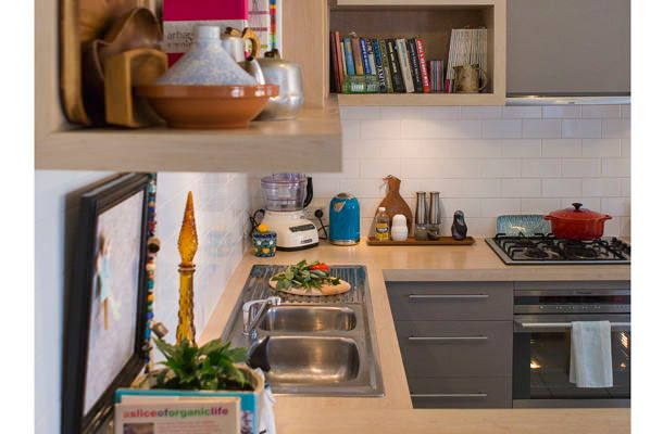 "Small Living in Style – A kitchen which is still ""On Trend"""