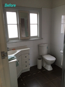 Existing temporary bathroom