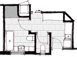 Final bathroom layout