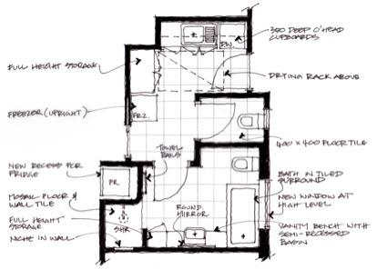 Bathroom & Laundry - Layout option 1